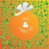 Gelukkige van de de Dagverspreiding van Heilige Patrick ` s de klaverkaart Stock Fotografie