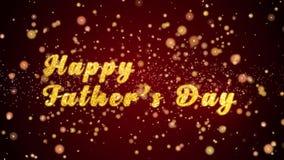 Gelukkige van de de Groetkaart van de Vader` s Dag de tekst glanzende deeltjes voor viering, festival royalty-vrije illustratie