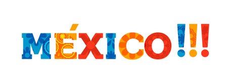 Gelukkige van de de vakantietypografie van Mexico het citaatbanner Stock Foto