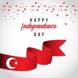 Gelukkige van het de Dag Vectormalplaatje van Turkije Onafhankelijke het Ontwerpillustratie vector illustratie