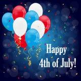 Gelukkige 4 van juli Stock Afbeeldingen