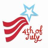 Gelukkige 4 van Juli stock afbeelding