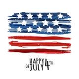 Gelukkige 4 van Juli, de Onafhankelijkheidsdag van de V.S. Vectorsamenvatting grunge Royalty-vrije Stock Fotografie
