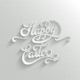 Gelukkige van letters voorziende de Groetkaart van Pasen Stock Foto
