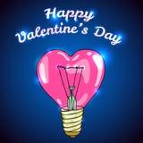 Gelukkige vector de groetkaart van de Valentijnskaartendag Stock Afbeelding
