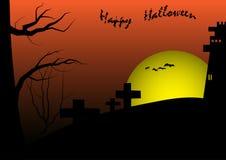 Gelukkige vector het malplaatjeachtergrond van Halloween Stock Foto's