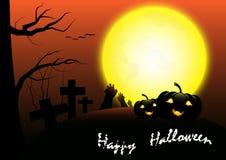 Gelukkige vector het malplaatjeachtergrond van Halloween Royalty-vrije Stock Foto