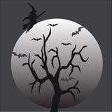 Gelukkige vector het ontwerpachtergrond van Halloween Royalty-vrije Stock Afbeelding