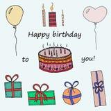 Gelukkige verjaardag aan u Stock Afbeelding