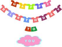 Gelukkige verjaardag aan u Stock Fotografie