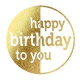 Gelukkige verjaardag aan u Royalty-vrije Stock Foto
