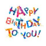 Gelukkige verjaardag aan u royalty-vrije illustratie