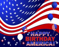 Gelukkige Verjaardag Amerika. Stock Afbeelding