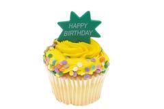 Gelukkige Verjaardag Cupcake Stock Foto