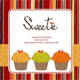 Gelukkige Verjaardag cupcakes Stock Afbeelding