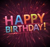 Gelukkige verjaardag, eps 10 Stock Afbeelding