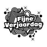 Gelukkige Verjaardag in het Nederlands fijne verjaardag royalty-vrije illustratie