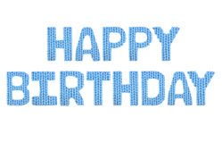 Gelukkige Verjaardag Kleurenblauw Stock Afbeelding