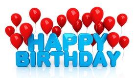 Gelukkige Verjaardag met ballons Stock Afbeeldingen