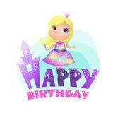 Gelukkige Verjaardag, prinses Royalty-vrije Stock Afbeeldingen