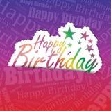 Gelukkige Verjaardagsachtergrond Stock Foto