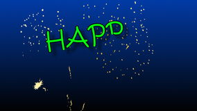 Gelukkige Verjaardagsanimatie met vuurwerk