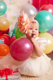 Gelukkige verjaardagsbaby Royalty-vrije Stock Afbeelding