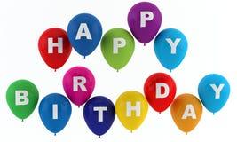 Gelukkige verjaardagsballons Royalty-vrije Stock Fotografie