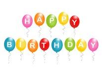 Gelukkige verjaardagsballons Stock Foto