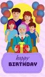 ` gelukkige verjaardagsgrootvader ` Stock Afbeeldingen