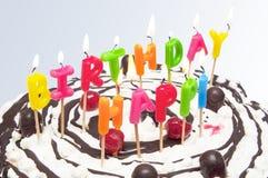 Gelukkige verjaardagskaarsen Royalty-vrije Stock Afbeelding