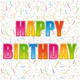Gelukkige verjaardagskaart. Stock Afbeeldingen