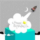Gelukkige verjaardagskaart Stock Foto