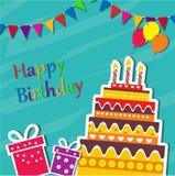 Gelukkige verjaardagskaart Stock Afbeelding