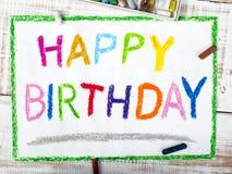 Gelukkige verjaardagskaart Royalty-vrije Stock Foto's