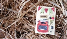 Gelukkige verjaardagskaart Royalty-vrije Stock Afbeeldingen