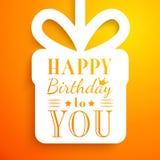 Gelukkige verjaardagskaart Editable voor partij van de uitnodigings de gelukkige verjaardag Royalty-vrije Stock Foto's