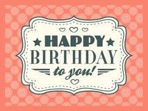 Gelukkige verjaardagskaart Editable voor partij van de uitnodigings de gelukkige verjaardag Royalty-vrije Stock Afbeelding