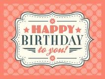 Gelukkige verjaardagskaart Editable voor partij van de uitnodigings de gelukkige verjaardag Royalty-vrije Stock Foto