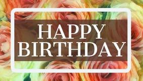 Gelukkige verjaardagskaart royalty-vrije illustratie