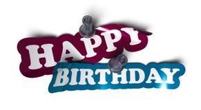 Gelukkige verjaardagssticker Royalty-vrije Stock Afbeelding