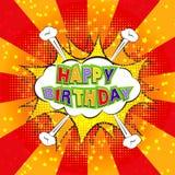 Gelukkige Verjaardagsstrippagina Royalty-vrije Stock Afbeelding