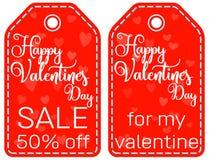 Gelukkige verkoop 50 van de valentijnskaarts dag weg voor mijn reeks van de valentijnskaartmarkering Royalty-vrije Stock Foto