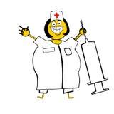 Gelukkige Verpleegster royalty-vrije illustratie