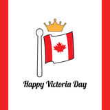 Gelukkige Victoria Day canada Royalty-vrije Stock Foto