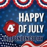 Gelukkige vierde van Juli-Onafhankelijkheidsdag Stock Afbeelding
