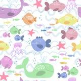 Gelukkige vissenachtergrond Stock Foto