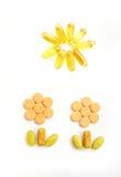 Gelukkige vitaminen & de gezonde groei stock afbeeldingen