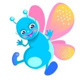 Gelukkige vlinder Stock Foto's