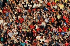 Gelukkige voetbalverdedigers Royalty-vrije Stock Fotografie
